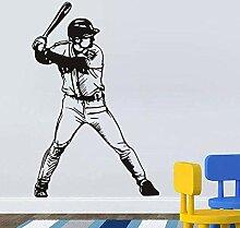 Wandsticker Abnehmbare Baseball Player Vinyl Sport