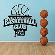 Wandsticker Basketball Club Sport Wanddekoration