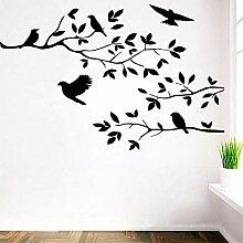 Wandsticker Baum Vogel Abnehmbare Vinyl Aufkleber