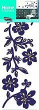 Wandsticker Blumen Deco * Lichterkette I * 2