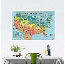 Wandsticker Für Baby American Map Removable Vinyl