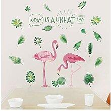 Wandsticker Für Baby Große Flamingo Blatt