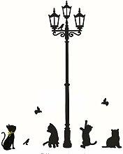 Wandsticker Für Baby Katzen Street Lamp Lights