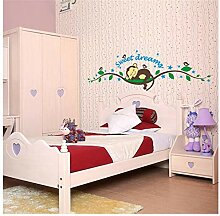 Wandsticker Für Baby Wald Bett Cartoon Affe