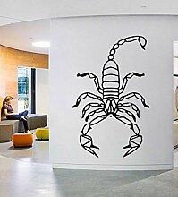 Wandsticker Geometrische Tier Skorpion Aufkleber