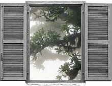 Wandsticker Iron Windows and Avenue Union Rustic
