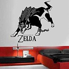 Wandsticker Jhping Zelda Legend Wolf Kette Vinyl