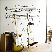 Wandsticker Jhpinggröße 70 * 120 Cm Musik