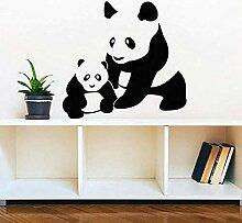 Wandsticker Jhpingmama Und Baby Panda Wandtattoo