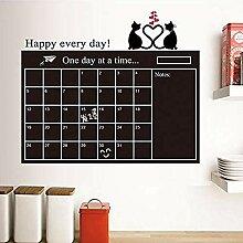 Wandsticker Jhpingpvc-Kalender Wandaufkleber
