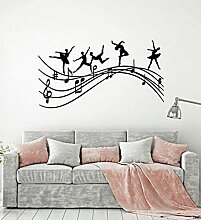 Wandsticker Kreative Balletttänzer Musiknoten