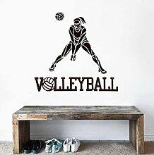 Wandsticker Kreatives Design Frauen Volleyball