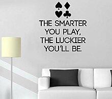 Wandsticker PokerAufkleber Schriftzug