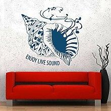 Wandsticker Seashell Sea Wall Vinyl Abnehmbare