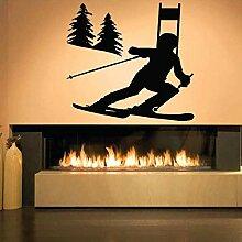 Wandsticker Skifahren Wintersport Schlafzimmer