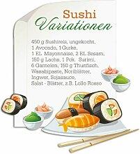 Wandsticker Sushi Variationen East Urban Home