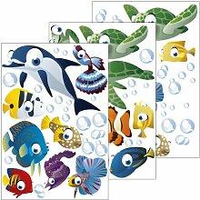 Wandsticker Unterwasserwelt / Fische / Ozean -