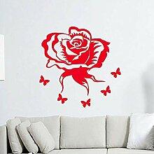 Wandsticker Viele Farben Rose Blume Wohnzimmer