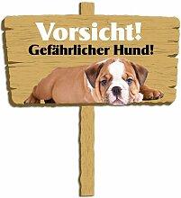 Wandsticker Vorsicht! Gefährlicher Hund! East