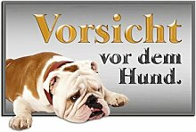 Wandsticker Vorsicht vor dem Hund East Urban Home