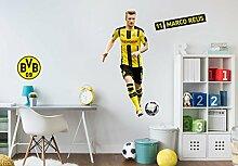 Wandsticker, Wandtattoo, Aufkleber, Poster selbstklebend - BVB - Marco Reus - Bogengröße: 50x145 cm