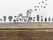 Wandsticker Wilde Tiere Fox Wandtattoo Vinyl