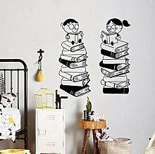 Wandstickers Cartoon Kinder Wandtattoo Bücher