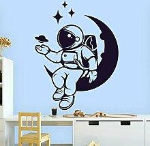 Wandstickers Raum Astronaut Wandtattoo Planet