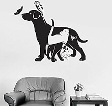 Wandstickers Tier Wandtattoo Wandbilder Hund Katze