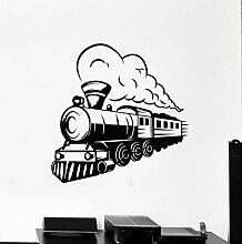 Wandstickers Zug Wandtattoo Lokomotive Dampf Vinyl