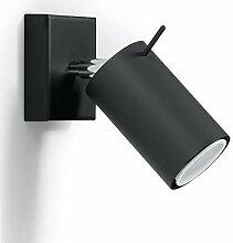 Wandstrahler Ring in schwarz LED 5W GU10  