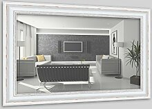 WandStyle H550-001 Wandspiegel Spiegel Barock Modern Antik Massivholz Weiß (50 x 100 cm)