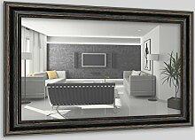 WandStyle H550-010 Wandspiegel Spiegel Barock Modern Antik Massivholz Schwarz (60 x 80 cm)