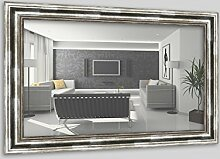 WandStyle H550-031 Wandspiegel Spiegel Barock Modern Antik Massivholz Silber (40 x 60 cm)
