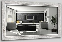 WandStyle H660-001 Wandspiegel Spiegel Schwemmholz Shabby Chic Vintage Landhaus Weiß (40 x 60 cm)