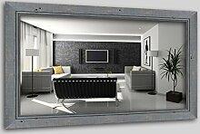 WandStyle H660-009 Wandspiegel Spiegel Schwemmholz Shabby Chic Vintage Landhaus Grau (40 x 60 cm)
