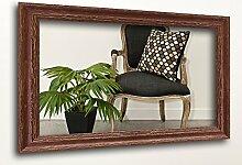 WandStyle H740-006 Wandspiegel Spiegel Shabby-Chic Landhaus Massivholz Braun (20 x 40 cm)