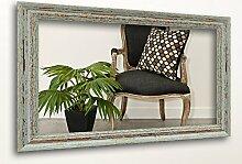 WandStyle H740-009 Wandspiegel Spiegel Shabby-Chic Landhaus Massivholz Grau (24 x 30 cm)