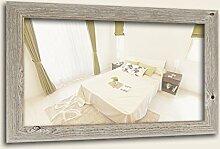 WandStyle H770-022 Wandspiegel Spiegel Sonoma Eiche Weiß Natur Modern Massivholz (50 x 100 cm)