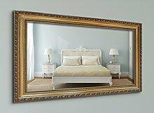 WandStyle WS-E027 Wand Spiegel 50 x 60 cm Barock Antik Gold Massivholz