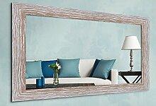 WandStyle WS-H380-022 Wand Spiegel Eiche weiß gekalkt Modern Natur Elegant Massivholz (30 x 90 cm)