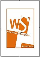 WANDStyle WS-H999 Rahmenloser Bilderrahmen mit