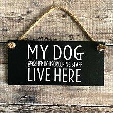 Wandtafel für Hundeliebhaber, Schiefertafel mit