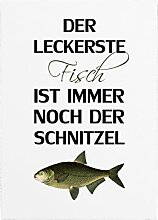 WANDTAFEL Holzschild DER LECKERSTE FISCH Lustig Spruch Küche Fleisch Dekoration