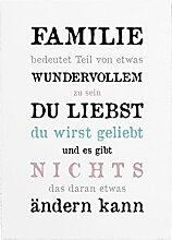 WANDTAFEL Holzschild FAMILIE * BEDEUTET TEIL *