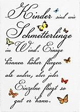 WANDTAFEL Schild KINDER SIND WIE SCHMETTERLINGE