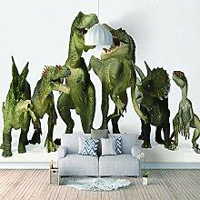 Wandtapete 3D Für Benutzerdefinierte Dinosaurier