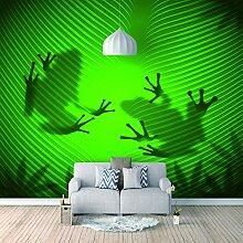Wandtapete 3D Für Benutzerdefinierte Frosch Foto