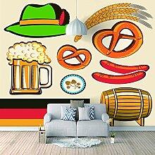 Wandtapete 3D Für Benutzerdefinierte Hut Bier