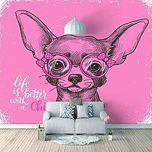 Wandtapete 3D Für Benutzerdefinierte Rosafarbener